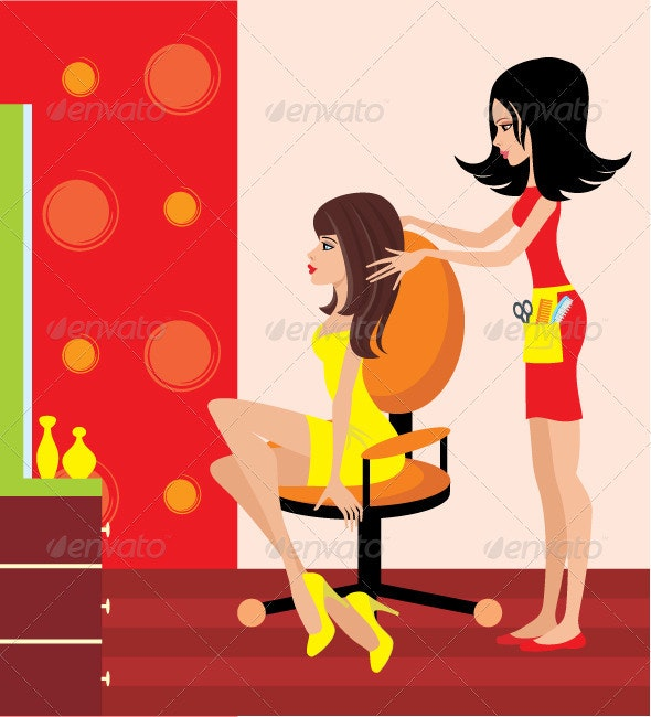 Woman in a Beauty Salon - People Characters