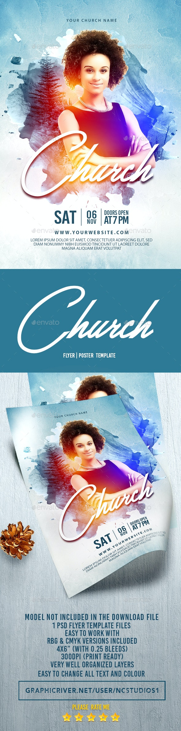 Church Flyer Template - Events Flyers