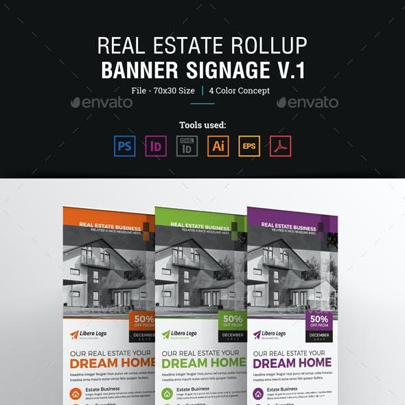 Real Estate Rollup Banner Signage Design v1