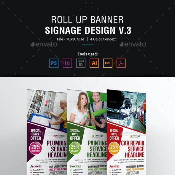 Roll up Banner Signage Design v3