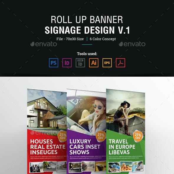 Roll up Banner Signage Design v1