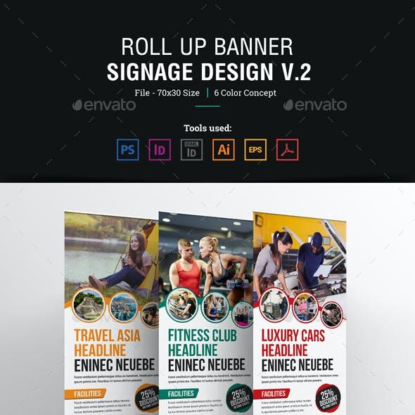 Roll up Banner Signage Design v2