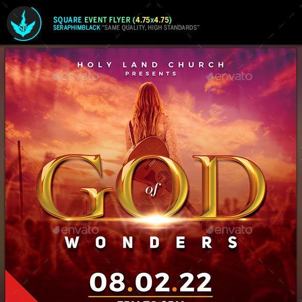 God of Wonders Gospel Concert Fyer Template
