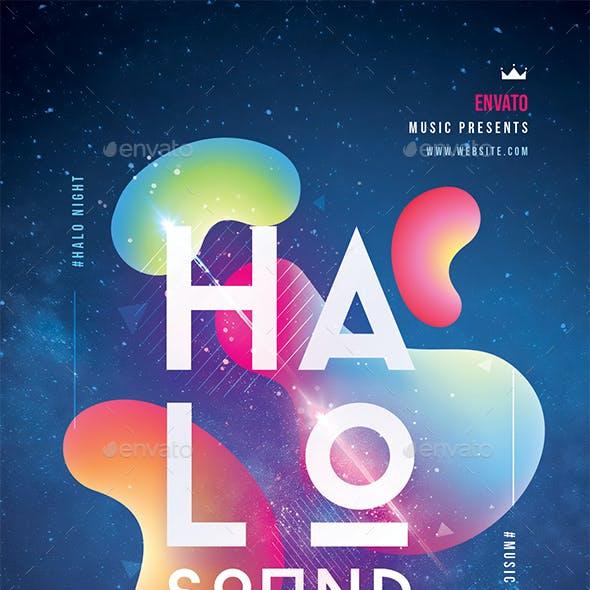 Halo Sound Concert Flyer