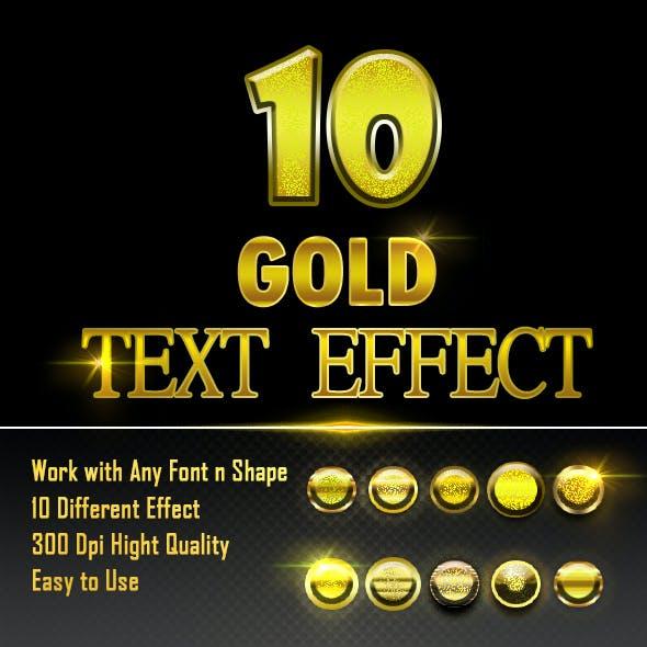 10 GOLD TEXT EFFECT