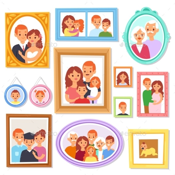 Frame Vector Framing Picture or Family Photo - Man-made Objects Objects