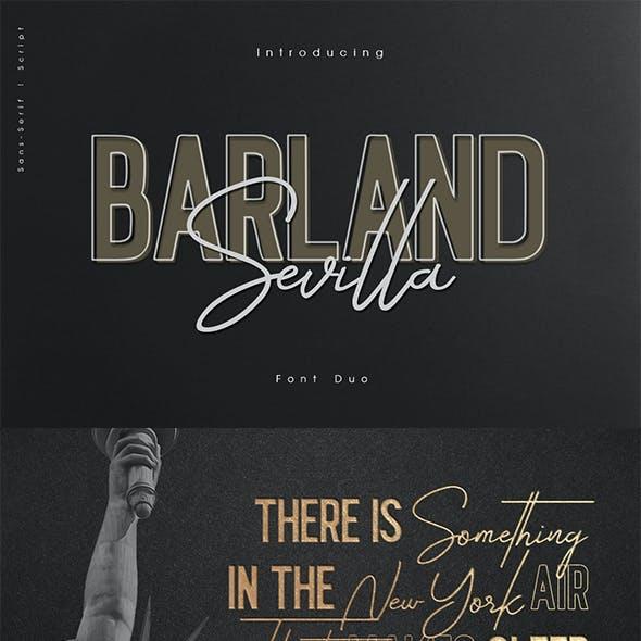 Barlan Sevilla script & sans duo