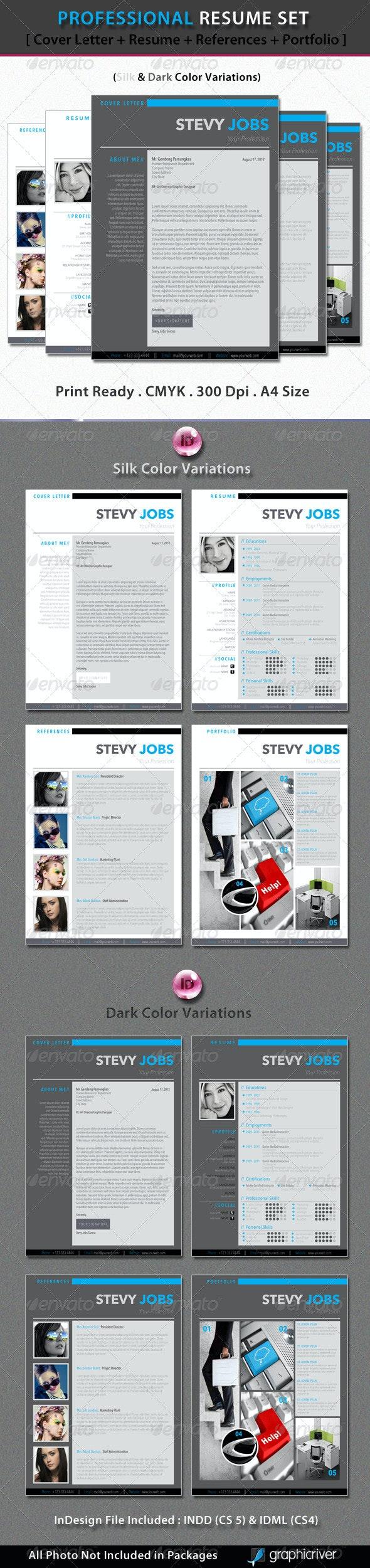 Professional Resume Set - Resumes Stationery
