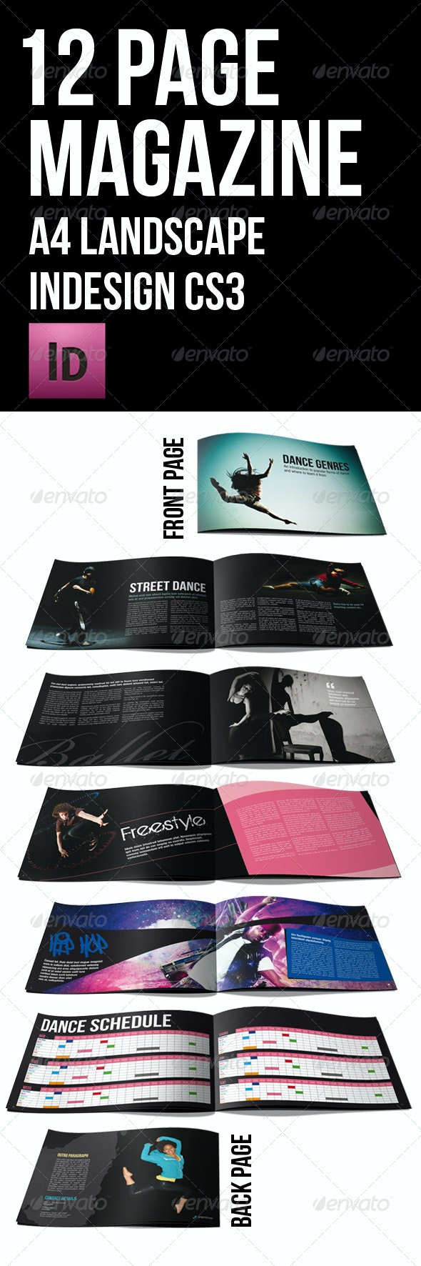 12 page black themed brochure A4 landscape - Corporate Brochures