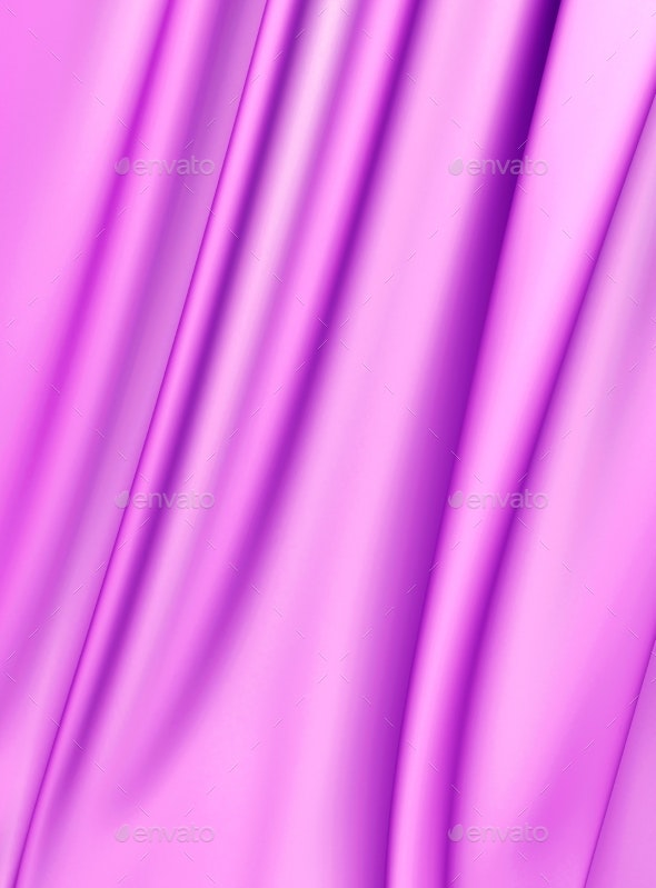 Abstract Texture, Pink Silk - 3D Backgrounds