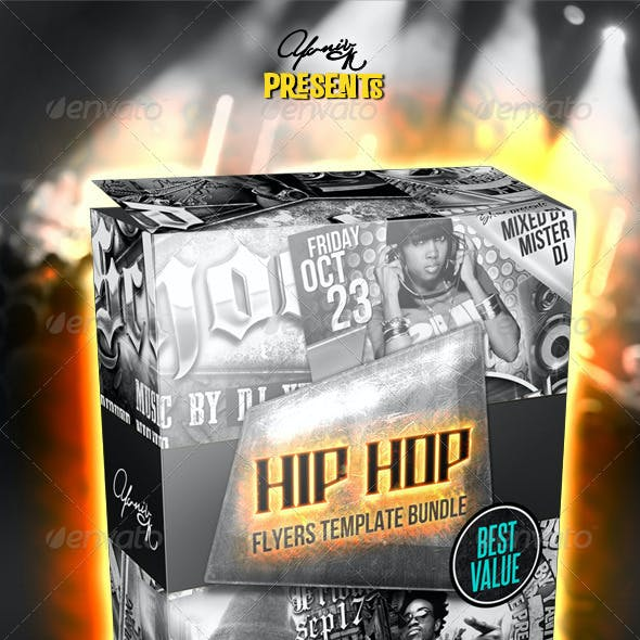 Hip Hop Flyer Bundle