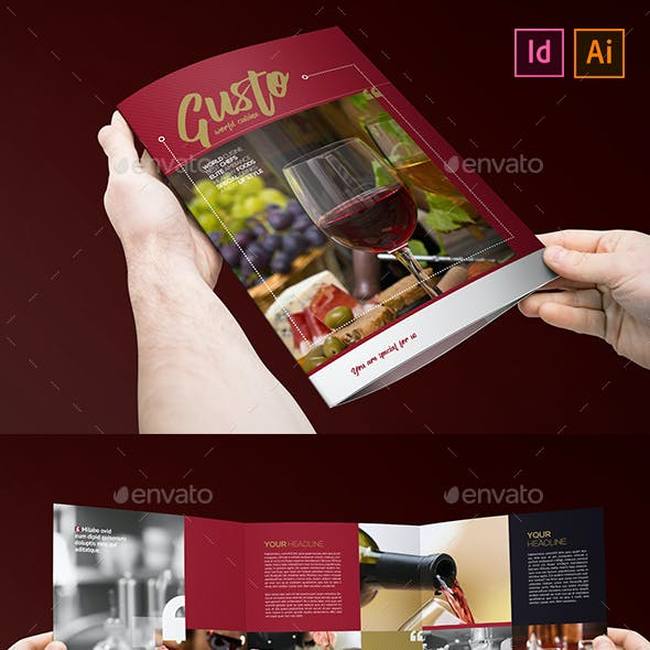 Restaurant Cafee Brochure Trifold 3xA4