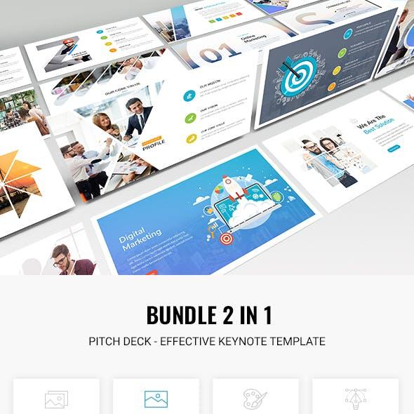 Bundle 2 in 1 Pitch Deck - Effective Keynote 2018