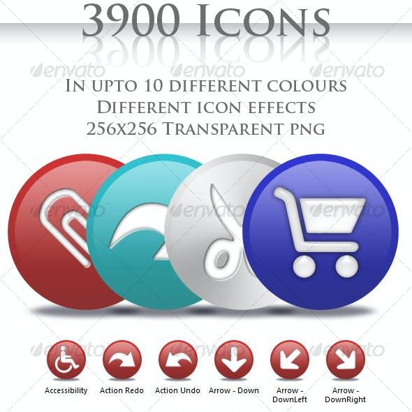 3900 Circle Icons