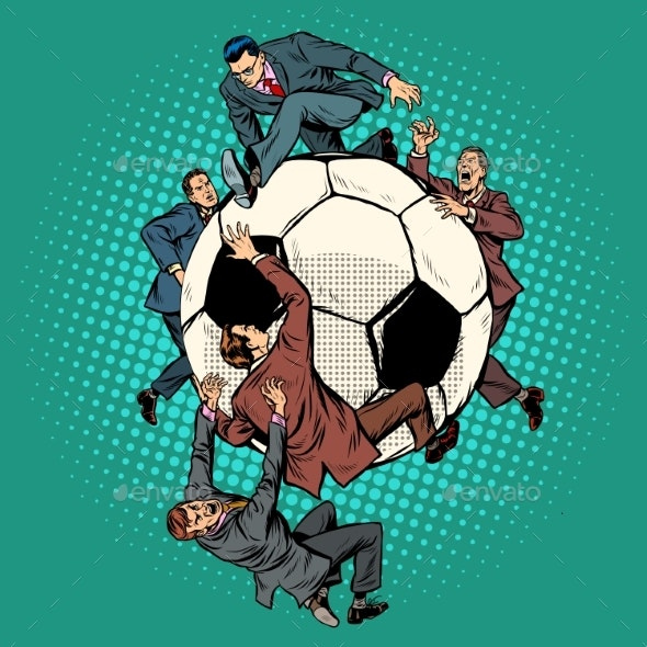 Competition of Politicians for Football. Soccer - Sports/Activity Conceptual