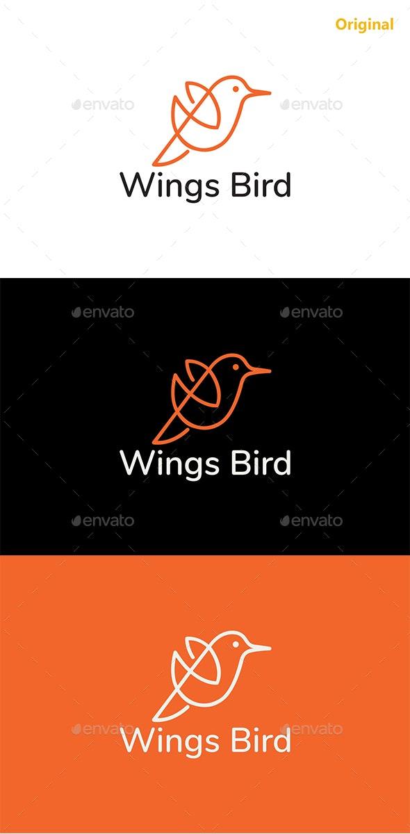 """Wings Bird LOGO"" - Animals Logo Templates"