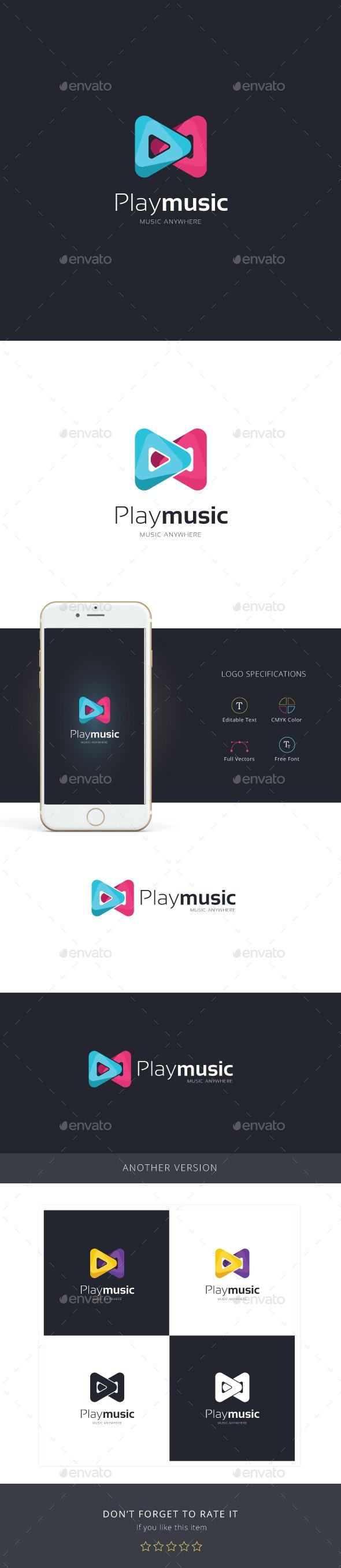Play Music logo - Abstract Logo Templates