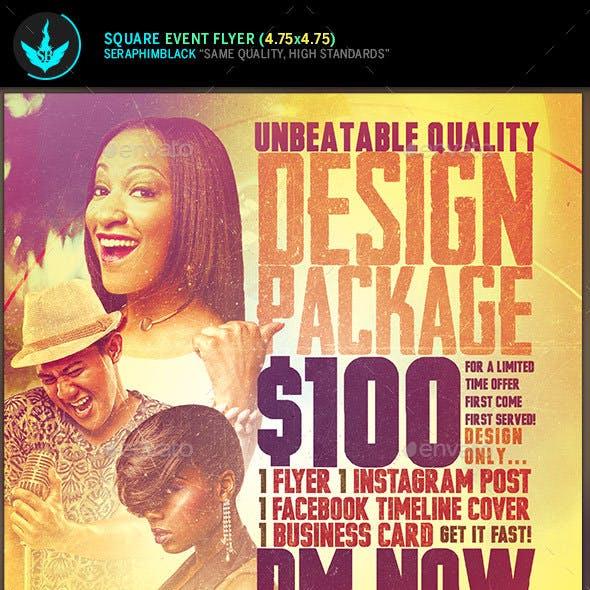 Design Promotion Square Flyer Template