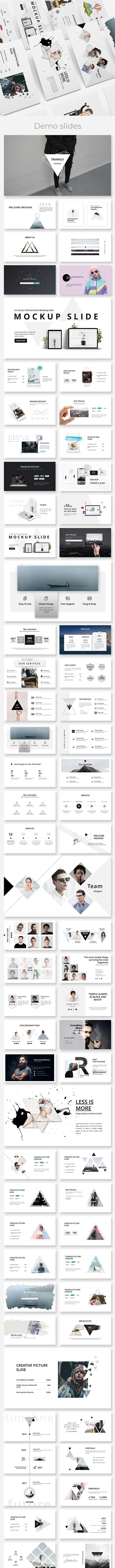 Triangle - Minimal & Creative Powerpoint Template - Creative PowerPoint Templates