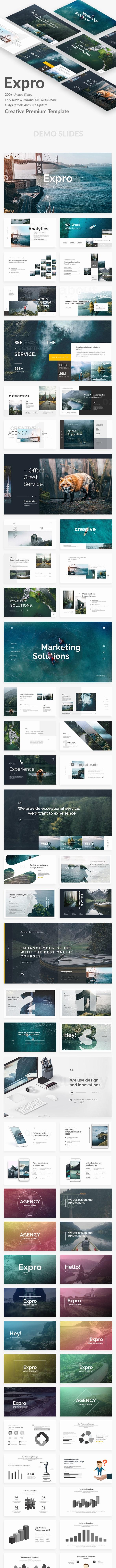 Expro Creative Design Google Slide Template - Google Slides Presentation Templates