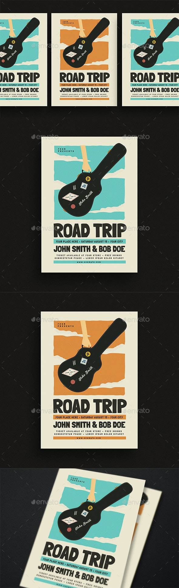 Road Trip Gigs Event Flyer - Events Flyers