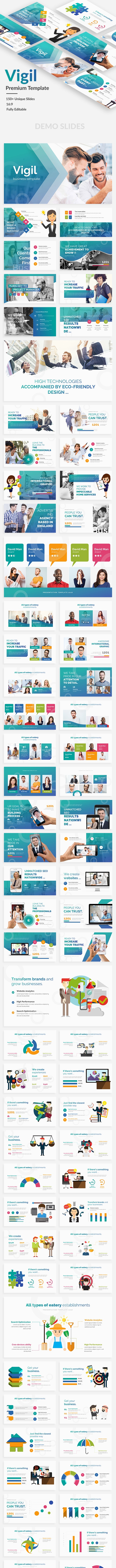 Vigil Business Premium Google Slide Template - Google Slides Presentation Templates