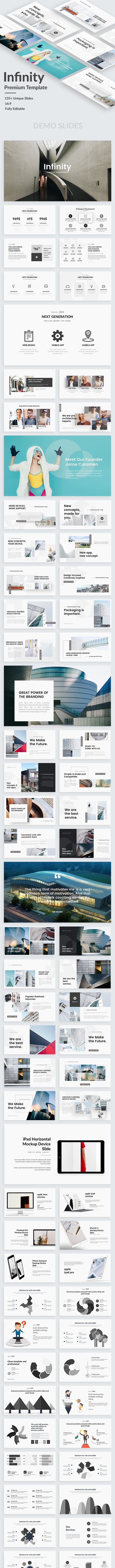 Infinity Creative Google Slide Template - Google Slides Presentation Templates