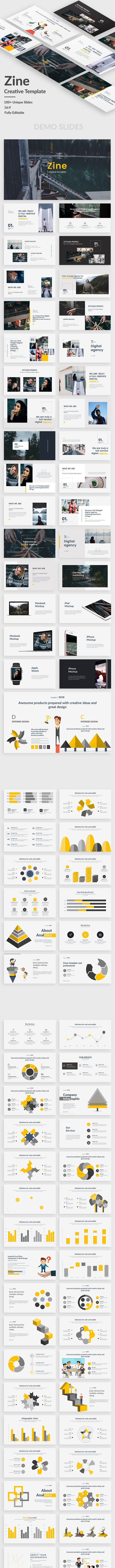 Zine Creative Google Slide Template - Google Slides Presentation Templates