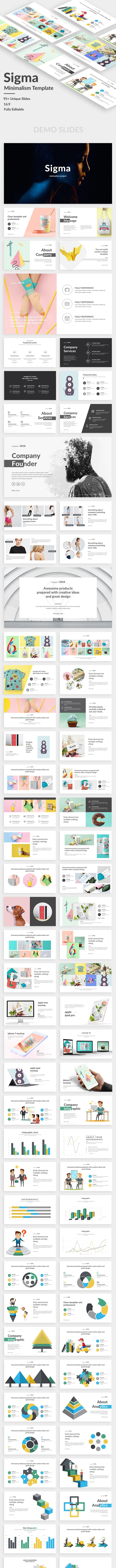 Sigma Minimalism Project Google Slide Template - Google Slides Presentation Templates