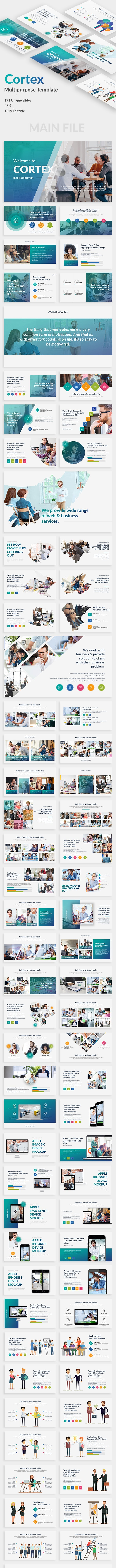 Cortex Multipurpose Keynote Template - Business Keynote Templates