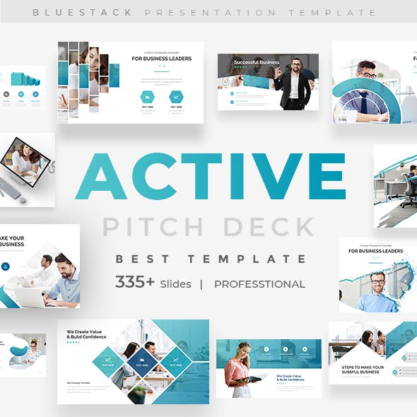 Active Fully Animated Pitch Deck Keynote Template