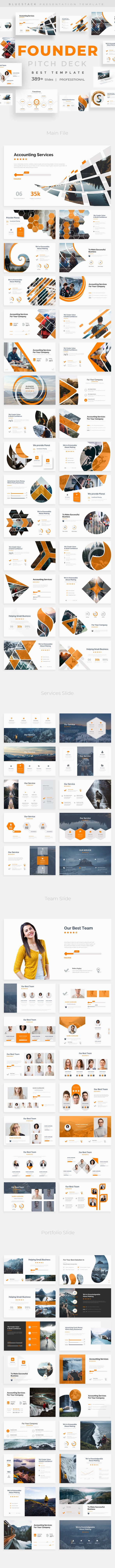 Founder Pitch Deck Powerpoint Template - Business PowerPoint Templates