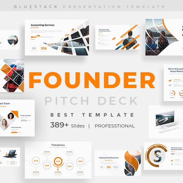 Founder Pitch Deck Powerpoint Template