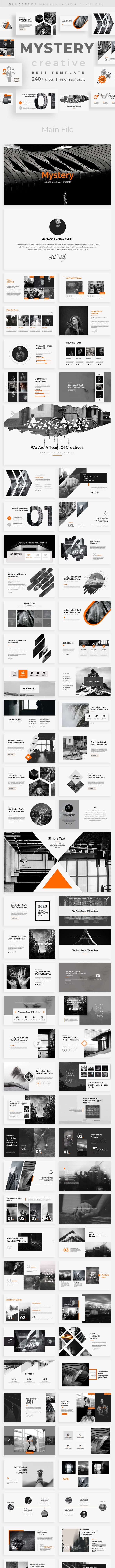 Mystery - Orange Creative Keynote Template - Creative Keynote Templates