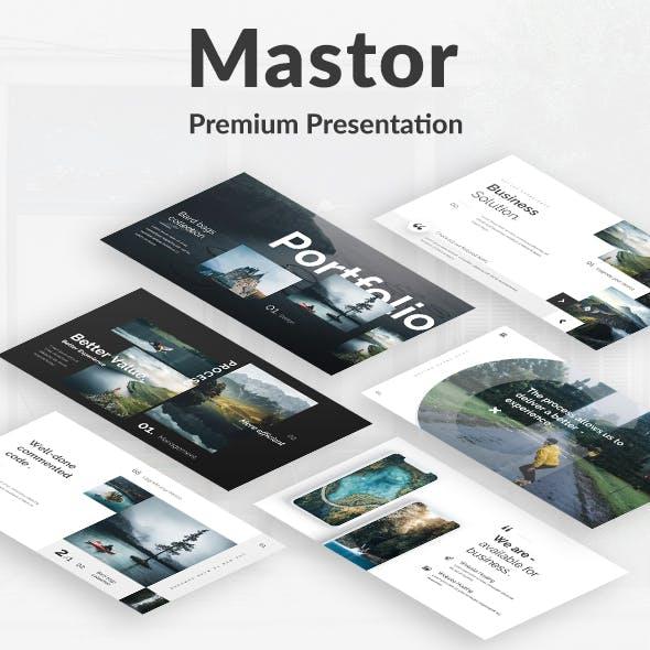 Mastor Premium Design Keynote Template