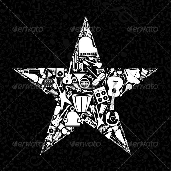 Musical Star 3 - Miscellaneous Vectors