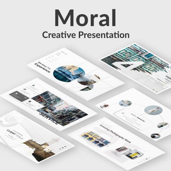 Moral Creative Google Slide Template
