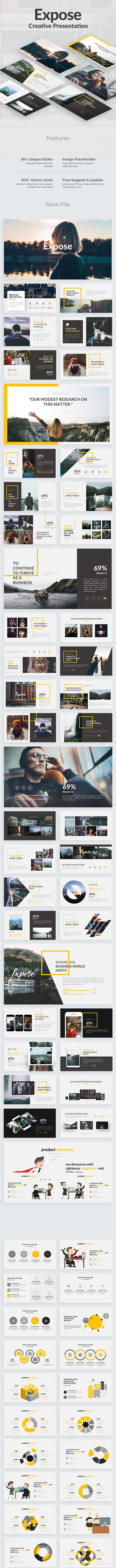 Expose Creative Powerpoint Template - Creative PowerPoint Templates
