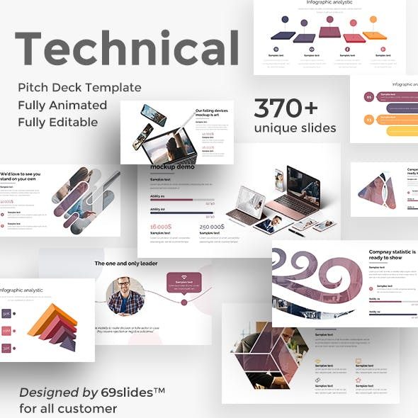 Technical Fully Animated Pitch Deck Keynote Template