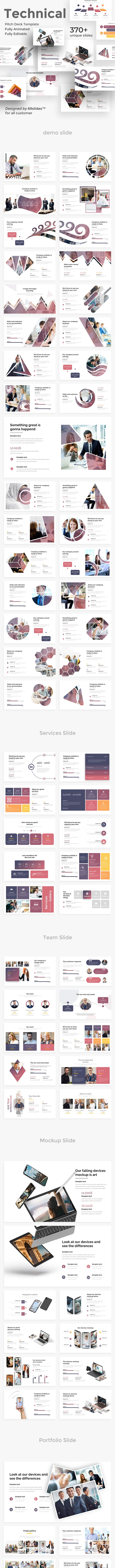 Technical Fully Animated Pitch Deck Powerpoint Template - Business PowerPoint Templates