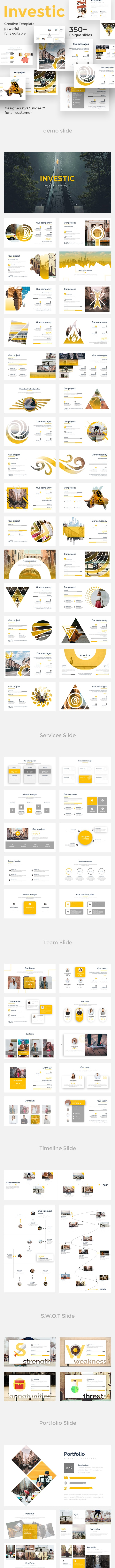 Investic Pitch Deck Powerpoint Template - Creative PowerPoint Templates