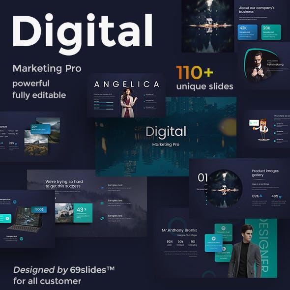 Digital Marketing Pro Design Google Slide Template