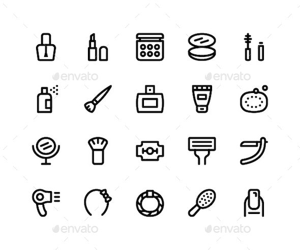 Beauty Line Icons - Icons