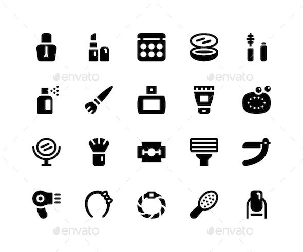 Beauty Glyph Icons - Icons