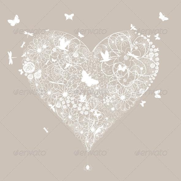 Wedding Heart 5 - Valentines Seasons/Holidays