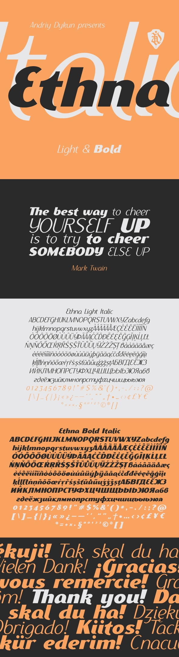 Ethna Italic - Sans-Serif Fonts