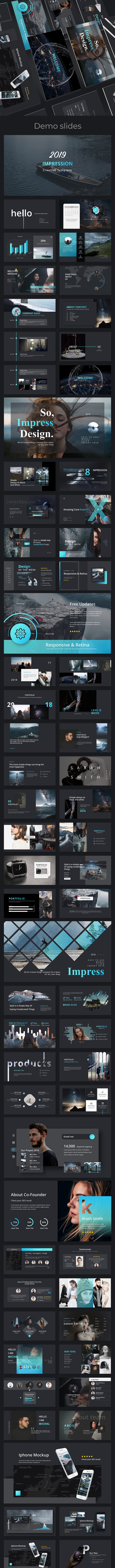 Impression Creative Powerpoint Template - Creative PowerPoint Templates