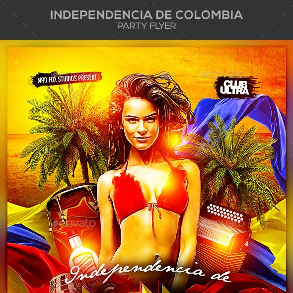 Independencia de Colombia Party Flyer