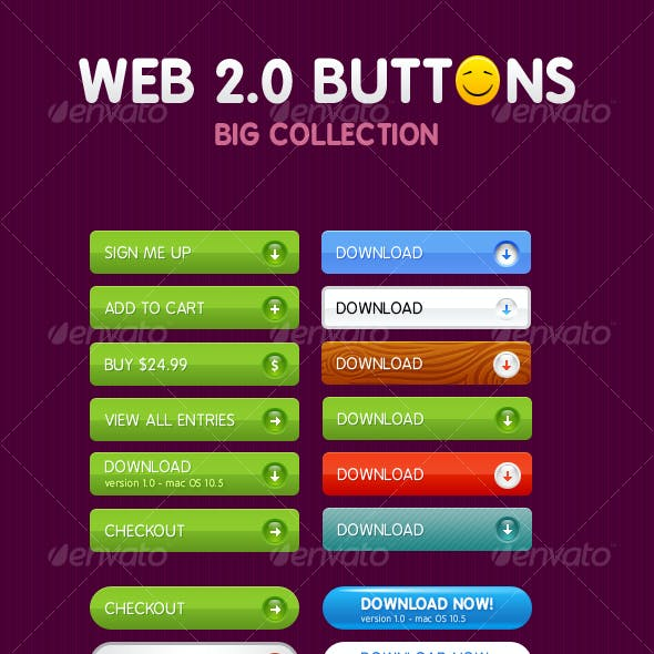 Colorful Web 2.0 Buttons
