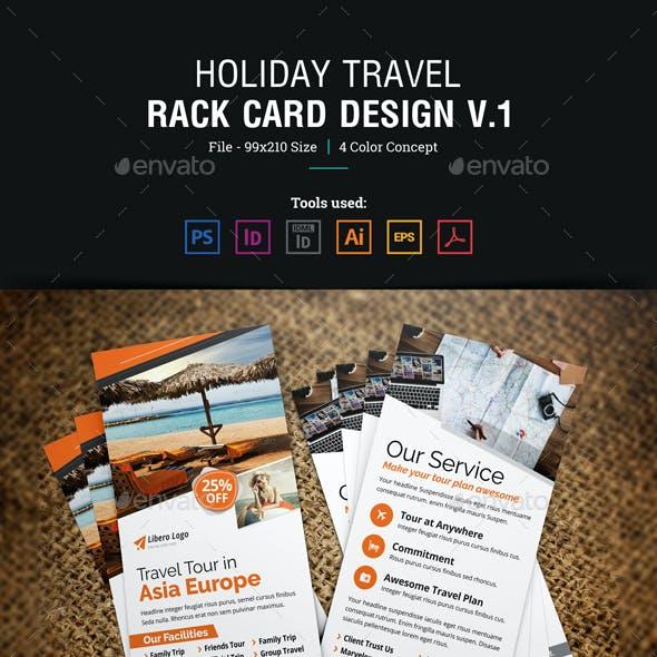 Holiday Travel Rack Card DL Flyer Design v1